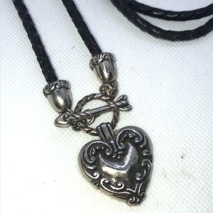 brighton Jewelry - Brighton Vintage Heart And Arrow Toggle Lariat